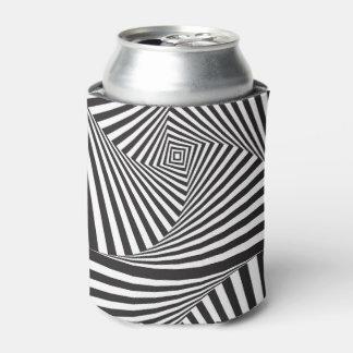 Porta-lata Ilusão óptica espiral branca preta bonita