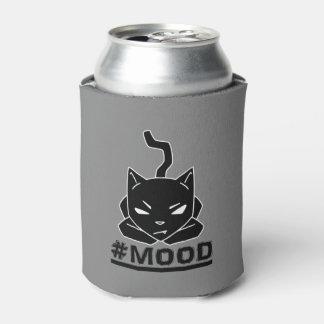 Porta-lata Ilustração do logotipo do preto do gato do #MOOD