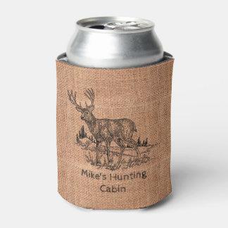 Porta-lata Ilustração personalizada rústica dos cervos de