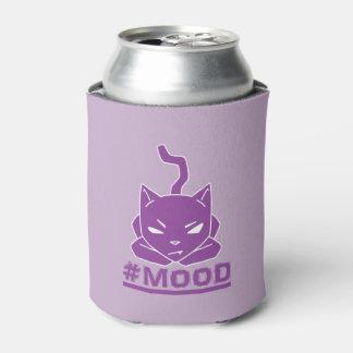 Porta-lata Ilustração roxa do logotipo do gato do #MOOD