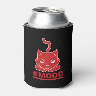 Porta-lata Ilustração vermelha do logotipo do gato do #MOOD