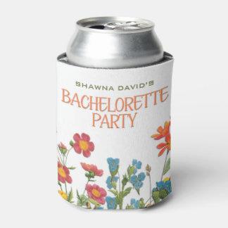Porta-lata Laço branco e festa de solteira #1 floral