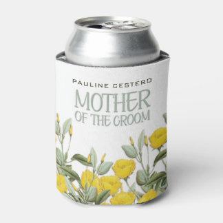 Porta-lata Laço branco e mãe #2 floral do noivo