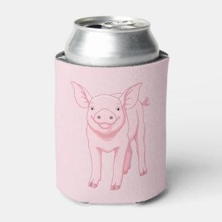 Porta-lata Leitão cor-de-rosa bonito do bebê