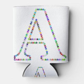 Porta-lata Letra A da estrela do arco-íris