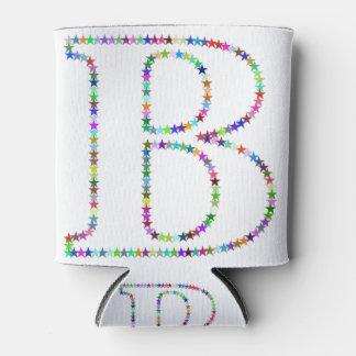 Porta-lata Letra B da estrela do arco-íris