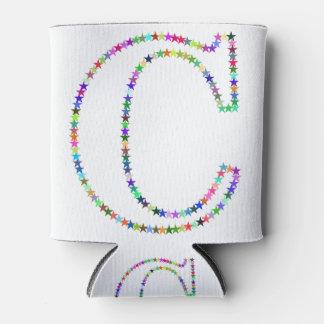 Porta-lata Letra C da estrela do arco-íris