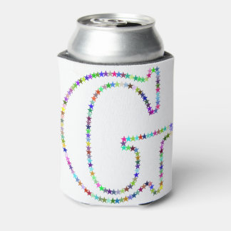 Porta-lata Letra G da estrela do arco-íris