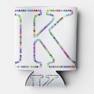 Porta-lata Letra K da estrela do arco-íris