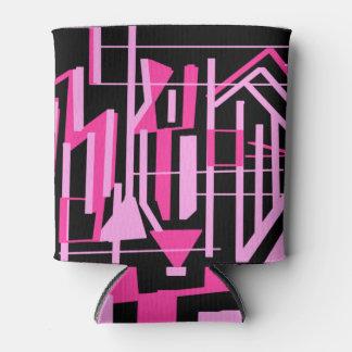 Porta-lata Listras da zebra do rosa quente e do preto