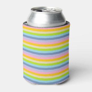 Porta-lata Listras Pastel contínuas do arco-íris