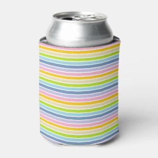 Porta-lata Listras Pastel esboçadas branco do arco-íris