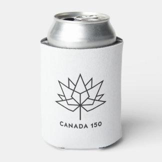 Porta-lata Logotipo do oficial de Canadá 150 - esboço preto