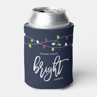 Porta-lata Luzes de Natal brilhantes e coloridas