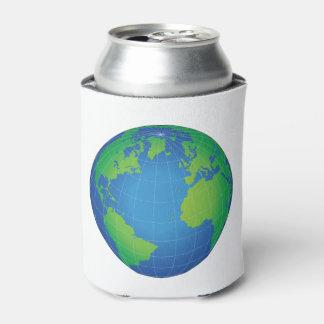 Porta-lata Mapa do globo do mundo