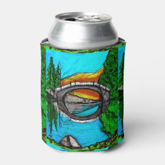 Porta-lata Marcador #2 da reflexão da ponte colorido