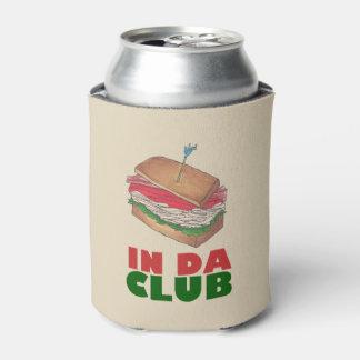 Porta-lata No comensal engraçado de Foodie do sanduíche de