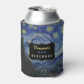 Porta-lata Noite estrelado Vincent van Gogh que pinta o