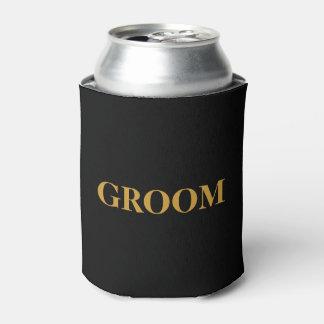 Porta-lata NOIVO para ele preto Wedding