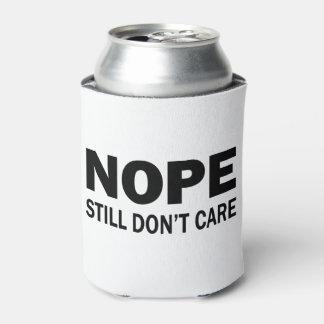Porta-lata Nope ainda não se importa