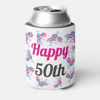 Porta-lata O 50th presente de aniversário feliz pode