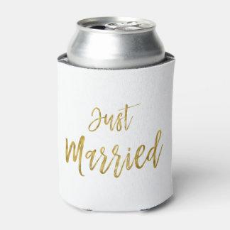 Porta-lata O aniversário da folha de ouro do recem casados