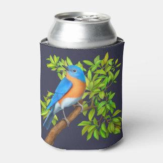 Porta-lata O Bluebird oriental na árvore pode refrigerador