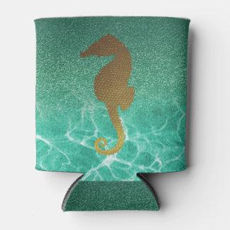 Porta-lata O brilho do cavalo marinho e da turquesa do ouro