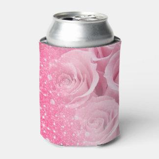 Porta-lata O brilho Sparkly do falso cor-de-rosa aumentou