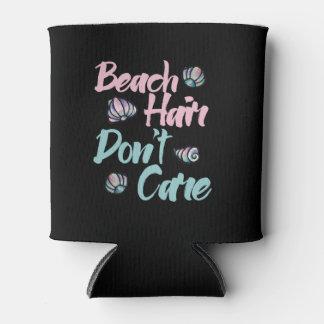 Porta-lata o cabelo da praia não se importa escudos