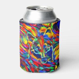 Porta-lata O cão colorido do rouco Siberian pode refrigerador