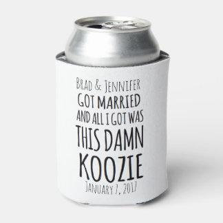 Porta-lata O casamento da noiva & do noivo pode refrigerador