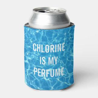 Porta-lata O cloro é minha piscina do perfume tipográfica
