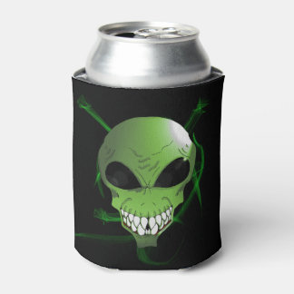 Porta-lata O costume estrangeiro verde pode refrigerador