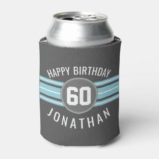 Porta-lata O feliz aniversario ostenta listras nome e idade