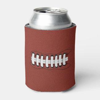 Porta-lata O futebol americano Monogrammed pode refrigerador
