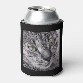 Porta-lata O gato de gato malhado eyed verde pode