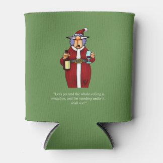 Porta-lata O humor engraçado do Natal pode um presente mais
