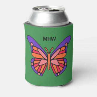 Porta-lata O monograma feito sob encomenda da borboleta