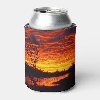 Porta-lata O nascer do sol do rio de Thomson pode