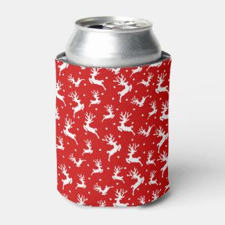 Porta-lata O Natal elegante da rena de Ditsy pode
