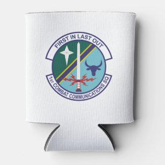 Porta-lata ø O logotipo do Comm do combate pode refrigerador