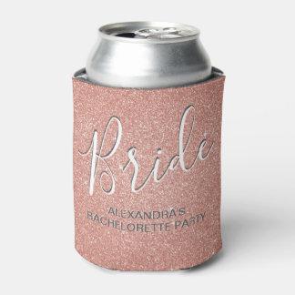 Porta-lata O ouro cor-de-rosa da noiva cora rosa pode