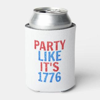 Porta-lata O partido como ele é //1776 texto do brilho do 4