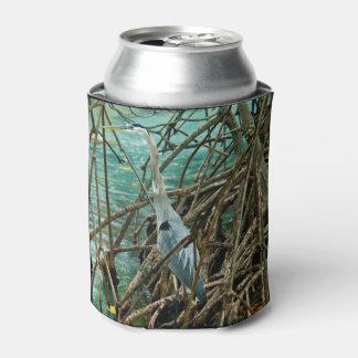 Porta-lata O pássaro azul da garça-real pode refrigerador