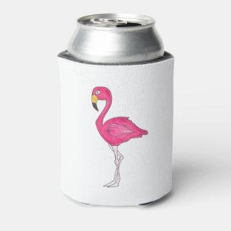 Porta-lata O pássaro tropical do flamingo do rosa da ilha