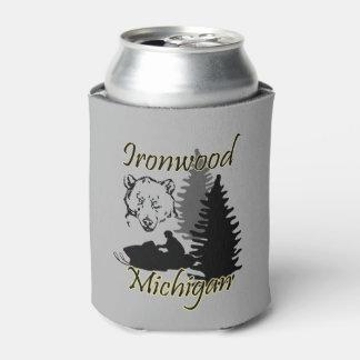 Porta-lata O pau-ferro preto Michigan pode refrigerador