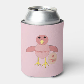 Porta-lata O pintinho cor-de-rosa feito sob encomenda da