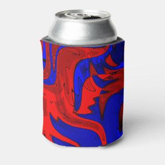 Porta-lata O rico do vermelho e do azul pode refrigerador