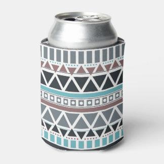 Porta-lata O teste padrão inspirado asteca pode refrigerador
